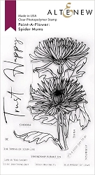 Altenew - Clear Stamps - Paint-A-Flower: Spider Mums Outline