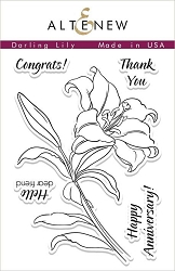Altenew - Clear Stamps - Darling Lily