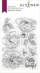 Altenew - Clear Stamps - Beautiful Peony