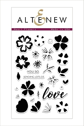 Altenew - Clear Stamps - Heart Flowers