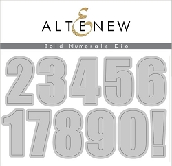 Altenew - Cutting Dies - Bold Numerals Die Set