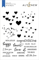 Altenew - Clear Stamps - All The Hearts