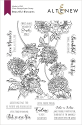 Altenew - Clear Stamps - Beautiful Blossoms