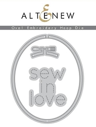 Altenew - Cutting Dies - Oval Embroidery Hoop