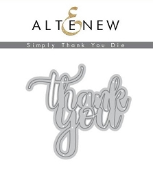 Altenew - Cutting Dies - Simply Thank You