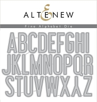 Altenew - Cutting Dies - Fine Alphabet