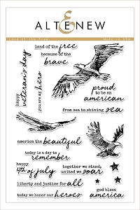 Altenew - Clear Stamps - Land of the Free