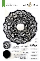 Altenew - Clear Stamps - Pen Sketch Mandala