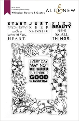 Altenew - Clear Stamps - Whimsical Flowers & Quotes
