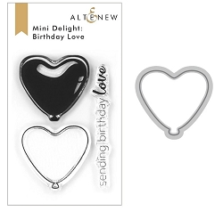 Altenew - Clear Stamps & Die bundle - Mini Delight: Birthday Love
