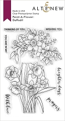 Altenew - Clear Stamps - Paint-A-Flower: Daffodil