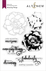 Altenew - Clear Stamps - Amazing Things