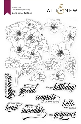 Altenew - Clear Stamps - Bergenia Builder