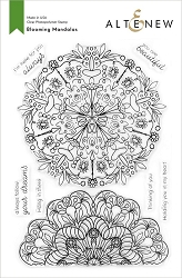 Altenew - Clear Stamps - Blooming Mandalas
