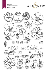 Altenew - Clear Stamps - Wild & Free