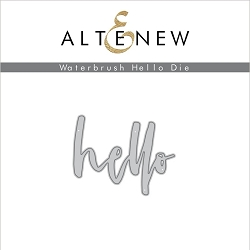 Altenew - Cutting Dies - Waterbrush Hello Die