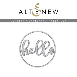 Altenew - Cutting Dies - Circled Greetings: Hello Die