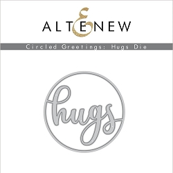 Altenew - Cutting Dies - Circled Greetings: Hugs Die