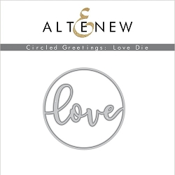 Altenew - Cutting Dies - Circled Greetings: Love Die