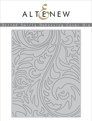 Altenew - Cutting Dies - Dotted Swirls Debossing Cover Die