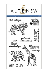 Altenew - Clear Stamps - Geometric Menagerie