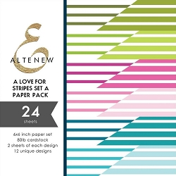 Altenew - 6x6 Paper Pack - A Love for Stripes Set A