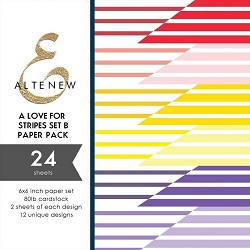 Altenew - 6x6 Paper Pack - A Love for Stripes Set B