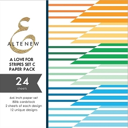Altenew - 6x6 Paper Pack - A Love for Stripes Set C
