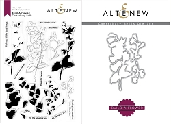 Altenew - Clear Stamps & Die bundle - Build-A-Flower: Canterbury Bells