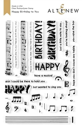 Altenew - Clear Stamps - Happy Birthday to You