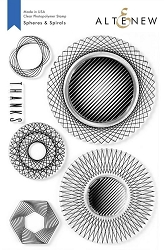 Altenew - Clear Stamps - Spheres & Spirals