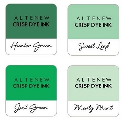 Altenew - Green Meadows 4 color Ink Cube Set