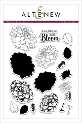 Altenew - Clear Stamps - Dahlia Blossoms