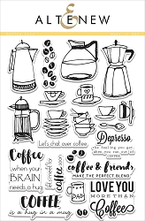 Altenew - Clear Stamps - Coffee Love