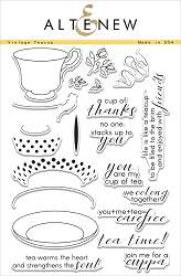 Altenew - Clear Stamps - Vintage Teacup