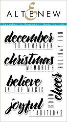 Altenew - Clear Stamps - December to Remember