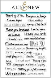 Altenew - Clear Stamps - Heartfelt Sentiments
