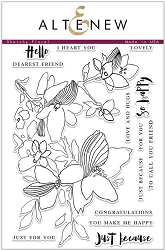 Altenew - Clear Stamps - Sketchy Floral