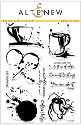 Altenew - Clear Stamps - Coffee with a Splash