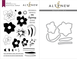Altenew - Clear Stamps & Die bundle - Daffodil Build-a-Flower