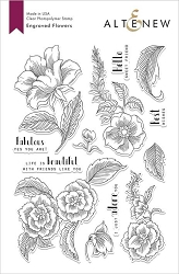 Altenew - Clear Stamps - Engraved Flowers