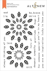 Altenew - Clear Stamps - Leaf Medallion