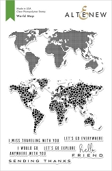 Altenew - Clear Stamps - World Map