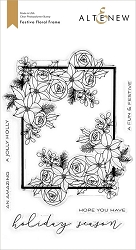 Altenew - Clear Stamps - Festive Floral Frame