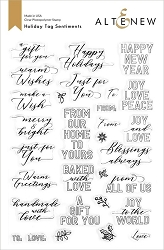 Altenew - Clear Stamps - Holiday Tag Sentiments