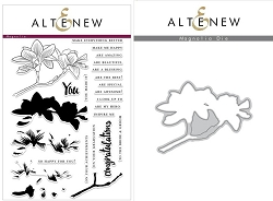 Altenew - Clear Stamps & Die bundle - Magnolia Build-a-Flower