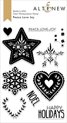 Altenew - Clear Stamps - Peace Love Joy