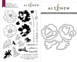 Altenew - Clear Stamps & Die bundle - Anemone Coronaria Build-a-Flower