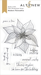 Altenew - Clear Stamps - Modern Poinsettia