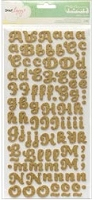 American Crafts Thickers Glitter Foam Stickers - Dear Lizzy - Gold Glitter
